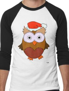 Christmas Owl Men's Baseball ¾ T-Shirt