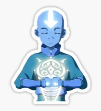 Aang's Avatar State with Raava Sticker