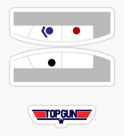 Top Gun - Minimal T-Shirt Sticker