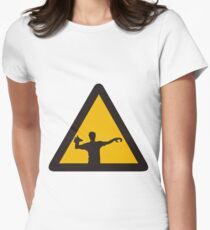 Warning - Zombies Women's Fitted T-Shirt