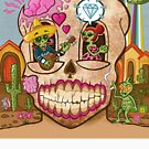 Mexican Skull Design with Diamond by Ross Radiation