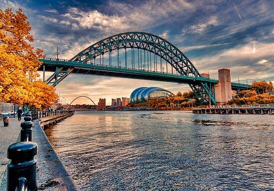 Autumn on the River Tyne by Trevor Kersley