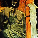 Buddhist Statue in Temple Abstract Impressionism by pjwuebker