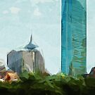 Downtown Boston Abstract Impressionism by pjwuebker