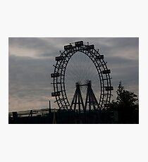 Ferris Silhouette Photographic Print