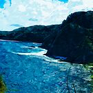 Bay On The Road To Hana Maui Abstract Impressionism by pjwuebker