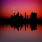 City Silhouette - Dubai by fernblacker