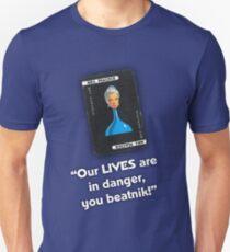 Clue - Mrs Peacock Beatnik T-Shirt