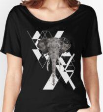 Geometric Elephant  Women's Relaxed Fit T-Shirt