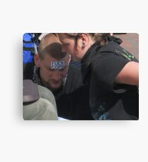 Fuck Cops Hippy Guy Canvas Print