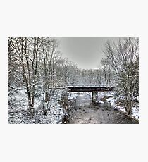 Derelict Railroad Bridge - Green Lane Pennsylvania USA Photographic Print