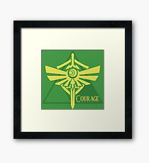 Triforce of Courage Framed Print