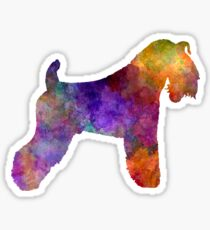 Kerry Blue Terrier 01 in watercolor Sticker