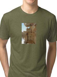 Corinthian Columns Celsus Library in Ephesus, Turkey Tri-blend T-Shirt