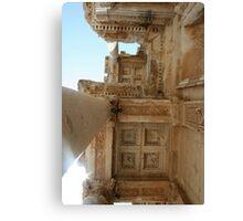 Corinthian Columns Celsus Library in Ephesus, Turkey Canvas Print