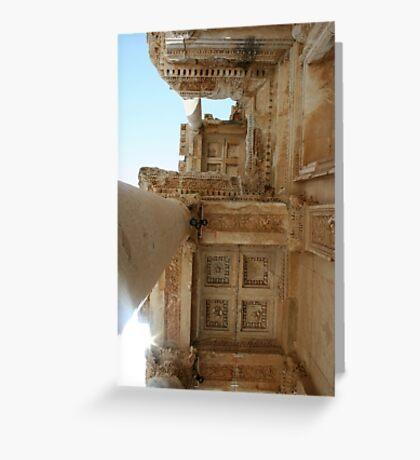 Corinthian Columns Celsus Library in Ephesus, Turkey Greeting Card