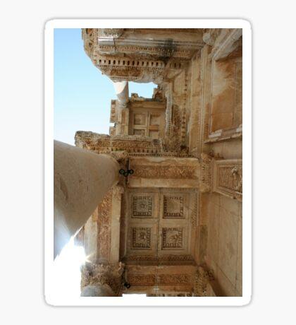Corinthian Columns Celsus Library in Ephesus, Turkey Sticker