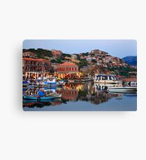 The beauty of Molyvos reflected Canvas Print