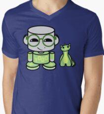 Yobo Yo O'babybot (and Deeogee) V-Neck T-Shirt
