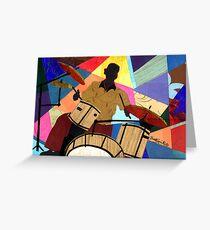 Jazzy Drummer Greeting Card