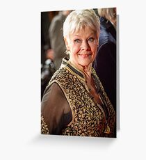 Judi Dench Greeting Card
