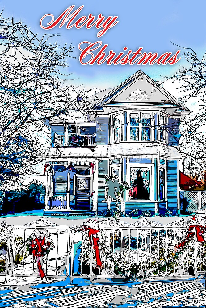 Merry Christmas In The Snow by K D Graves Photography