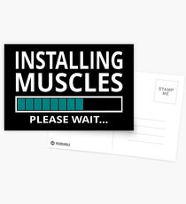 Installing Muscles Please Wait Postcards