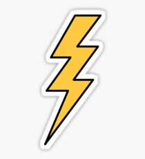 Lightning bolt - yellow with black outlines Sticker