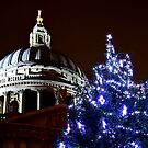 St Pauls Cathederal At Christmas 2 - HDR by Colin  Williams Photography