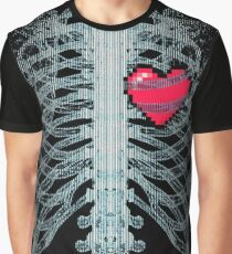 Xray Gamer Heart Graphic T-Shirt