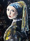 """The girl with the pearl earring"" (after Jan Vermeer) by Elizabeth Kendall"