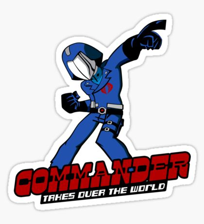 Commander Vs The World Sticker