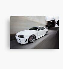 Nissan Skyline R34 GT-R Z Tune Canvas Print