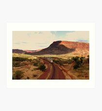 Tom Price Iron Ore Train Art Print