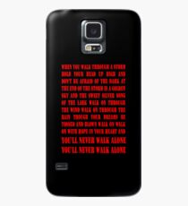 You'll Never Walk Alone - RED Case/Skin for Samsung Galaxy