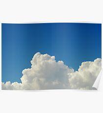 Cumulonimbus clouds in blue sky Poster