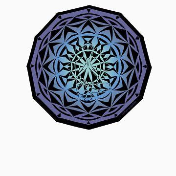 toe stand mandala sticker by yogadala