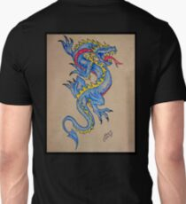 blue dragon parchment card T-Shirt