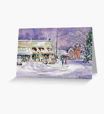A Snowy Bell Buckle Tennessee Greeting Card