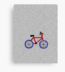 Blue and Red Bicycle Canvas Print