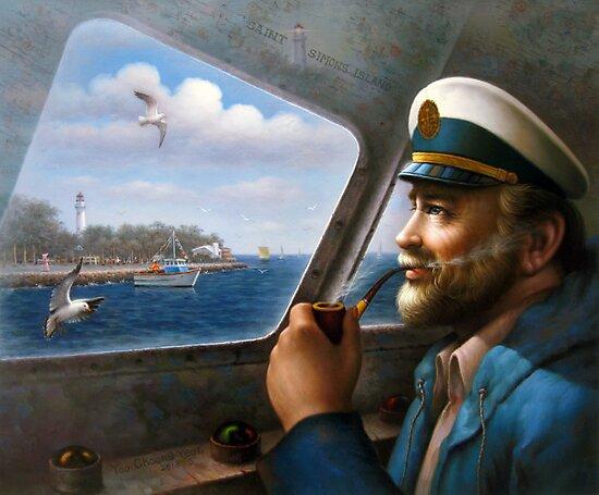 St. Simons Island Map Captain 4 by Yoo Choong Yeul