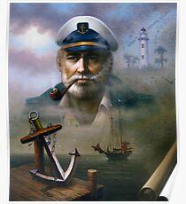 St. Simons Island Map Captain 2 Poster
