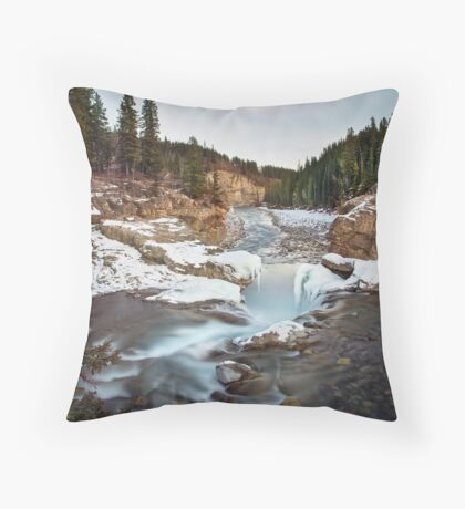 In The Frosty Forests Throw Pillow