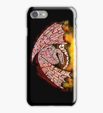 Typographic Smaug, on his pile of gold iPhone Case/Skin