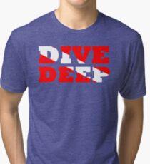 SCUBA DIVING DEEP DIVE FLAG Tri-blend T-Shirt