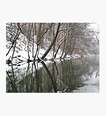 Snowy day in Bronx Photographic Print