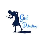 Girl Detective (dark on light) by Hawthorn Mineart