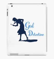 Girl Detective (dark on light) iPad Case/Skin