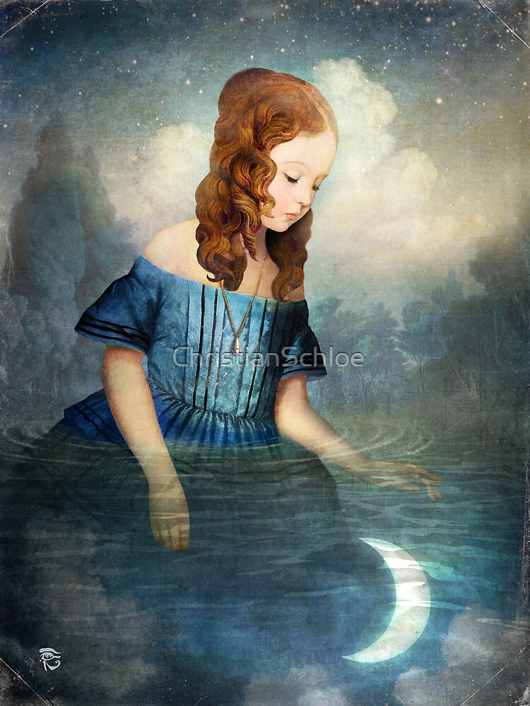 Quot Drowned Moon Quot By Christianschloe Redbubble