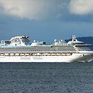 Diamond Princess plies the Derwent River, Hobart, Tasmania by PC1134